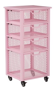 Osp Home Furnishings Clayton 4 Drawer Rolling Cart Steel Small Parts Organizer Study Room Decor, Cute Room Decor, Room Ideas Bedroom, Girls Bedroom, Bedroom Decor, Preteen Girls Rooms, Kawaii Room, Gamer Room, Storage Drawers