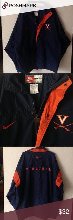 Nike Virginia UVA sports Jacket Nike Virginia UVA Windbreaker Jacket Navy Blue and Orange  Team Sports . Nike Jackets & Coats Utility Jackets