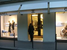 Shopping at Chanel store Paris France 2010