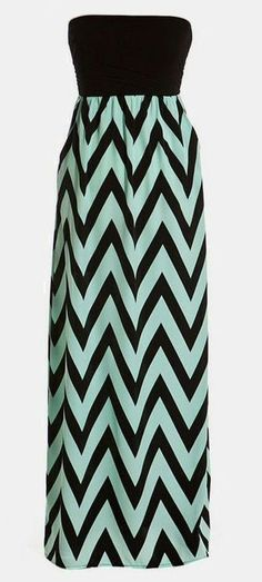 Strapless Chevron Maxi Dress with these heels http://www.pinterest.com/pin/346355027565577439/