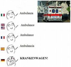 """another reason why German is scary"" - Okay, even though I'm half German, I have to admit this made me laugh my ass off for some reason. xD  It's the sudden rage face and the bold capital text, lmao!"