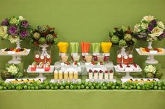 I know it is rare to see a non-dessert table on this blog, but as soon as I saw this fruit and veggie table by Esther Kim of My Bride Story, I knew I had to share it with you all. Esther was inspired by our dessert tables and used the same techniques on this …
