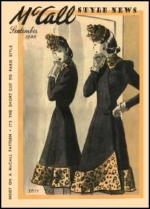 Butterick Costume Patterns McCalls Dressmaking - Fashion History, Costume Trends and Eras, Trends Victorians - Haute Couture 1940s Fashion, Fashion News, Vintage Fashion, Fashion Art, Mccalls Sewing Patterns, Vintage Sewing Patterns, Vintage Dresses, Vintage Outfits, Vintage Clothing