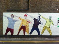 Brick Lane, London. Fans of Usain Bolt. #ItsNotPossibleLondon