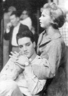 Elvis and Juliet Prowse, set of GI Blues, 1960