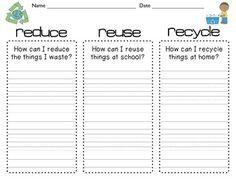 Reduce, Reuse, Recycle Worksheet - Twisty Noodle