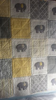 Baby Elephant Baby Quilt         Free Pattern available upon request.