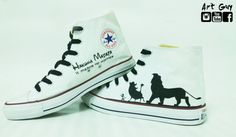24983c325028 Items similar to lion king hand painted shoes converse Custom hakuna matata  one of a kind canvas ArtGuy on Etsy