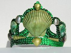 Green Mermaid Crown Tiara by SparkleNRust on Etsy, $15.00