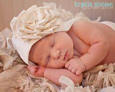 baby baptism BONNET cotton large blooming by apricotsandlollipops, $32.48