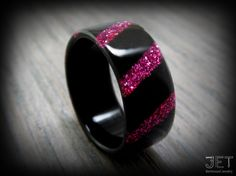 Steam Bent-Wood Ring Ebony with Eight by JETbentwoodjewelry