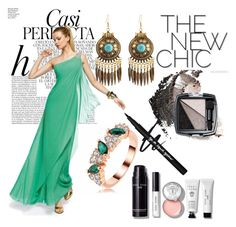 One Shoulder Sleeveless Chiffon Hunter Prom Dress With Beaded by johnnymuller on Polyvore featuring Avon, Bobbi Brown Cosmetics and Whiteley