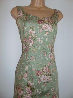 Polyester Satin, Satin Fabric, Denim Pinafore, Land Girls, Brocade Dresses, Vintage Labels, Princess Seam, Summer Garden, Laura Ashley