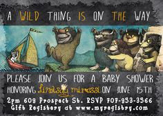 5x7 Chevron Where the Wild Things Are Baby Shower by SSDdesign