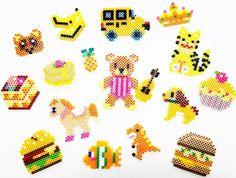 Summer yellow⭐️ #perlerbeads #パーラービーズ #おもちゃ #カラフル #楽しすぎる #対象年齢5歳以上 #色集めごっこ #happy #cute#yellow
