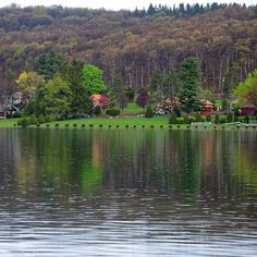 A nice calming shower yesterday as Spring starts to slowly and delicately flex its beauty here at Deep Creek Lake.