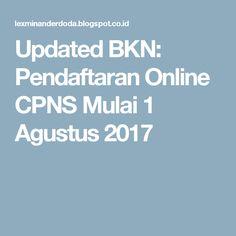 Updated BKN: Pendaftaran Online CPNS Mulai 1 Agustus 2017