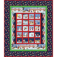 Peanuts Christmas Time Quilt Top Kit