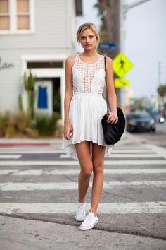 Adorable Summer White Sleeveless Dress