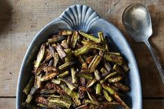 Spicy Oven-Roasted Okra   27 Bold & Spicy Recipes To Ring In Summer 2016
