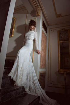 businessofbridal:  savethedress:  YAKI RAVID - Collection 2013  Yaki Ravid Bridal is perfect for a bride who is looking to add height on the...