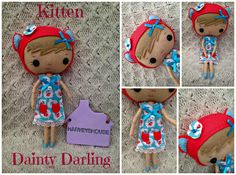 Handmade Felt Dainty Darling - Kitten Collectable Doll - Ready To Buy by HarveyshouseCrafts on Etsy