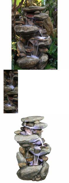 Indoor fountains 20569 desktop waterfall fountain tabletop water indoor fountains 20569 waterfall fountain outdoor indoor stone rock garden patio backyard led new workwithnaturefo