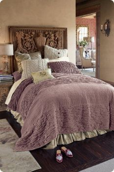 I wanna crawl up in this beautiful, comfy bed with a coffee service and a great romance novel.
