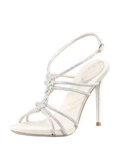 3965d30e0c1 Rene Caovilla Twisted Crystal Single-Sole Sandal