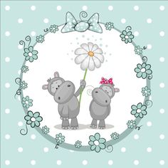 lovely cartoon animal with baby cards vectors 03 - GooLoc Baby Cartoon, Cute Cartoon, Cute Images, Cute Pictures, Baby Hippo, Baby Clip Art, Cute Clipart, Baby Prints, Cute Illustration