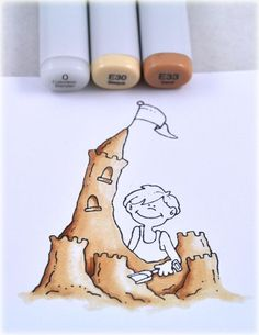 Because I'd never actually considered the dimensions in sand! Copic coloring