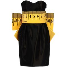 Moschino Short Dress (15.400 ARS) ❤ liked on Polyvore featuring dresses, moschino, black, black rayon dress, black zipper dress, viscose dress, black cocktail dresses and short black cocktail dresses