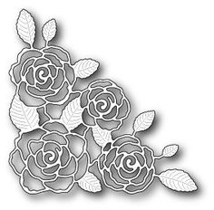Memory Box Die - English Rose Corner