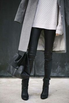 My dream winter look. Black & Gray