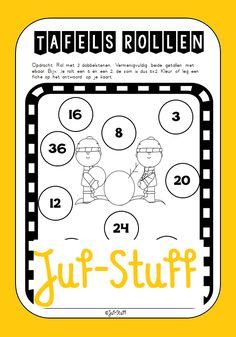 Juf-Stuff: Dobbelspel om tafels te oefenen