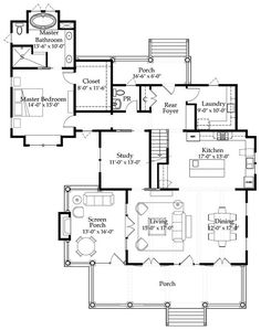 Looking for the best house plans? Check out the River Place Cottage plan from Coastal Living. Cottage Floor Plans, Cottage House Plans, Cottage Homes, House Floor Plans, Farm House, Best House Plans, Dream House Plans, Small House Plans, I Love House