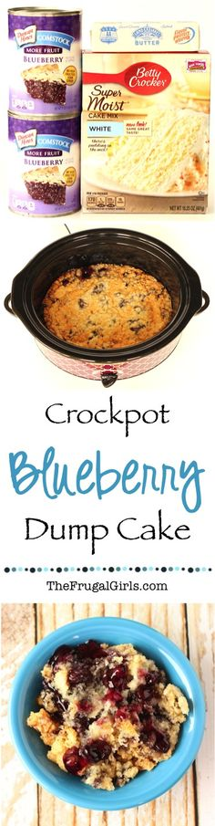 Crockpot Blueberry Dump Cake Recipe! ~ at TheFrugalGirls.com ~ this easy dessert is SO delicious... just dump it in the Slow Cooker and walk away!! #slowcooker #recipes #thefrugalgirls