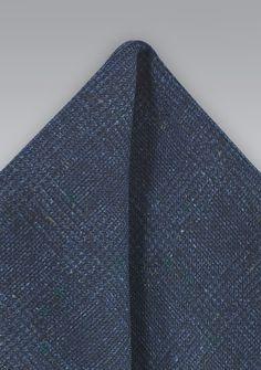 Einstecktuch Wolle gesprenkelt blauschwarz