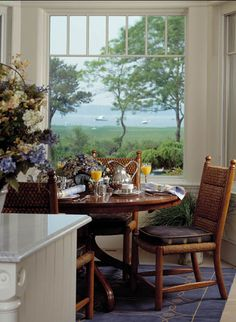 breakfast nook with view, Beautiful way to start the day.