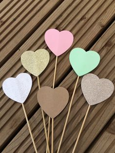 Items similar to Heart Lollipops - hearts on a stick wedding aisle decorations on Etsy Wedding Aisle Decorations, Lollipops, Handmade Wedding, Big Day, Color Mixing, Favors, Hearts, Party Ideas, Events