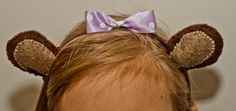 Handmade Bear ears hairband- for Teddy bear Day!