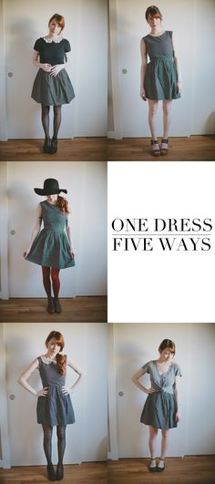 Stretch Your Closet: How to style one dress five ways