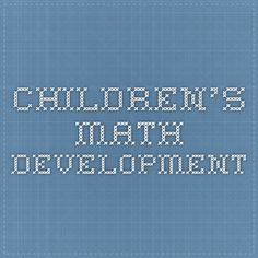 Children's Math Development