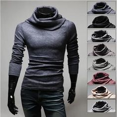 WIZIKOREA - Mock-Neck Sweater