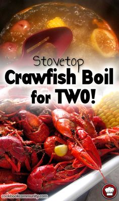Stovetop Crawfish Boil Recipe for Two People - Cookbook Community - Only cooking for two? This CRAWFISH BOIL RECIPE will turn up the heat on your flavorbuds! Go ahead - Crawfish Recipes, Cajun Recipes, Shrimp Recipes, Easy Recipes, Shrimp Crawfish Boil Recipe, Recipes For Two, Creole Recipes, Dishes Recipes, Loosing Weight