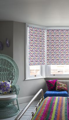 Shop our Range of Made to Measure Children's Blinds. Book a FREE In-Home Design Appointment or Order Free Samples Now! Bold Color Schemes, House Design, Childrens Blinds, Childrens Bedrooms, Blinds, Home, Nursery Blinds, Home Decor, Room