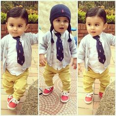 Cute lil boy, love this outfit