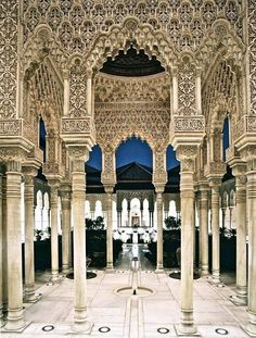 La Alhambra - Granada, Andalusia, Spain  i want to go to there