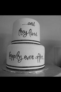 THIS WOULD BE FAB!!!! LOVE THE BLACK AND WHITE!!! Anniversary cake