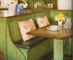 kitchen nooks and booths for home | want a kitchen booth instead of a table in my home someday. It has a ...